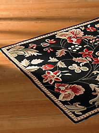 French Floral Wool Rug