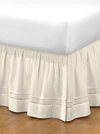 Gathered Hemstitch Bedskirt 18'' Drop