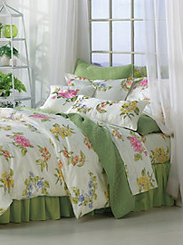 Garden Botanical Comforter, Duvet Cover, Shams, Sheet Set & Pillows