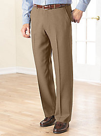 Fit-Forever� Flat-Front Slacks