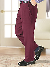 Fit-Forever® Flat-Front Slacks