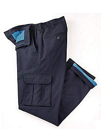 Side Elastic Rip-Stop Fleece-Lined Cargo Pants