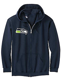 Official NFL Team Logo Zip-Front Fleece Hoodie
