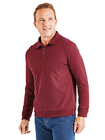 Classic Long-Sleeve Polo Shirt