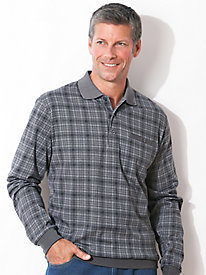 Banded Bottom Plaid Polo