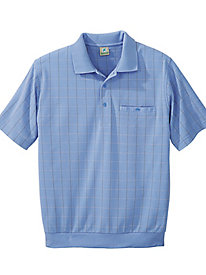 Windowpane Golf Shirt