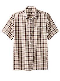 Snap-Front Plaid Shirt