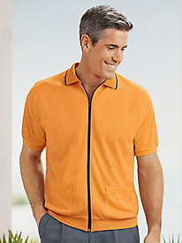 Active Joe® Zip-Front Polo