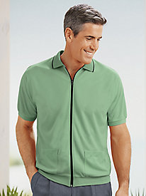 Active Joe� Zip-Front Polo