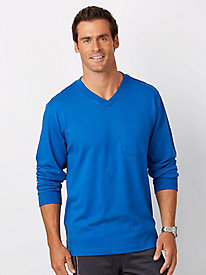 Active Joe® LS V-Neck Affordabili-Tees with Pocket