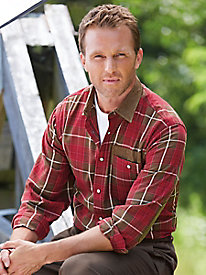 Stone Creek� Flannel Shirt with Forged Suede Trim
