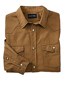 Stone Creek� Snap-Front Twill Shirt