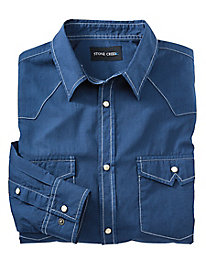 Stone Creek™ Snap-Front Twill Shirt