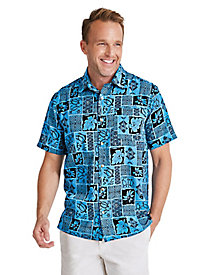 Batik Print Hawaiian Shirt