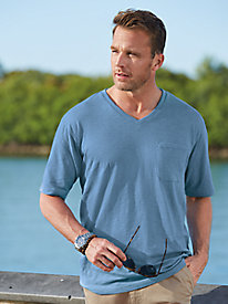 Stone Creek™ Textured V-Neck Tee