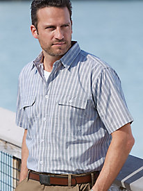 Stone Creek™ Pinstripe-Plaid Shirt