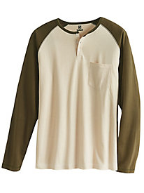 Long Sleeve Henley Affordabili-Tee