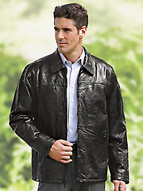 Year 'Round Brown Leather Jacket