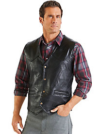 Exclusive! Western Leather Vest