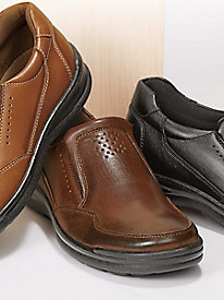 Soft Stags� Leather Slip-Ons