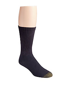 Gold Toe® Black Cushioned Crew Socks
