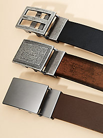 Casual Leather Belt Set