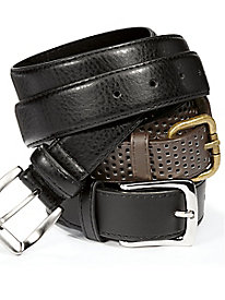Leather Belt Trio