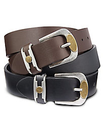 Set of 2 Western Leather Belts
