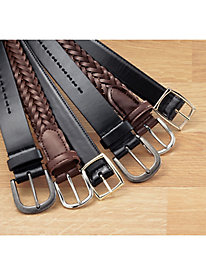 """Famous Brand"" Leather Belts"