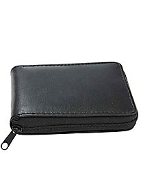 RFID-Blocking Zipper Wallet