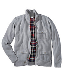 Jack Frost® Flannel-lined Sweater Jacket