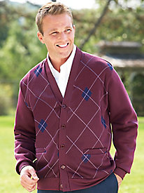 WondraFleece� Argyle Cardigan