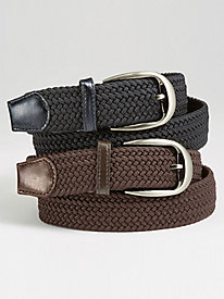 Casual Joe� Set of 2 Stretch Belts