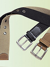Casual Joe� Set of 2 Webbed Belts