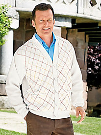 Argyle Fleece Cardigan