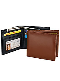 Leather Theft-Shield Bi-Fold Security Wallets