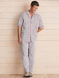 2-Pc. Plaid Tee & Pants Pajama Set