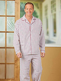 Woven Long Sleeve Pajama Set