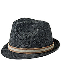 Basketweave Straw Fedora