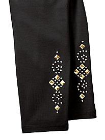 Embellished Stretch Pants