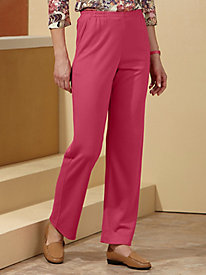 Sara Morgan� Side-Elastic Knit Slacks