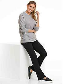 Fleece Sweatshirt with Bootcut Stretch Pants