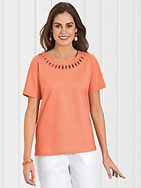 BocaBay� Criss-Cross Cotton Top