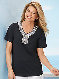 Deco Shimmer Knit Top