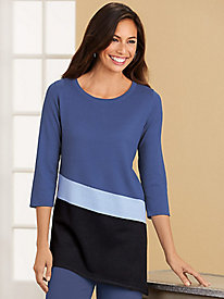 Salon Studio Asymmetrical Colorblock Sweater