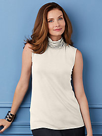 Ruched-Neck Turtleneck