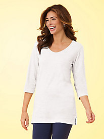 Essential Knit V-Neck Tunic