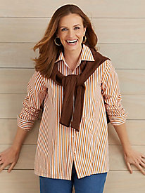 American Sweetheart™ Striped Blouse-Petite