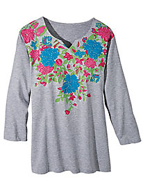 Sara Morgan� Bejeweled Blooms Top
