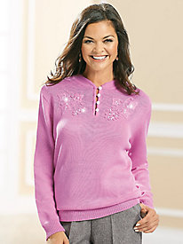 Adrian Delafield® Embroidered Sweater
